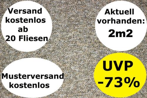 Teppichfliesen GRAU BEIGE NEU B1 50cm x 50cm Schlinge 5,5mm 2,88€//Fliese STRATOS