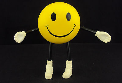 Smiley Face Stress Relief Ball ~ CASE LOT 12 UNITS ~ Adjustable Arms/Legs