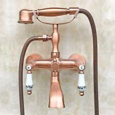 Antique Red Copper Clawfoot Bath Tub Faucet with Handshower - Wall Mount Ptf804