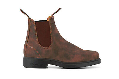 Blundstone Unisex 1306 Chisel Toe Leather Nubuck Chelsea Rustic Brown Boots Moderater Preis