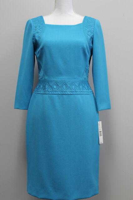 Antonio Melani Cora Blue 3 4 Sleeve Sheath Dress Size 2 Ebay