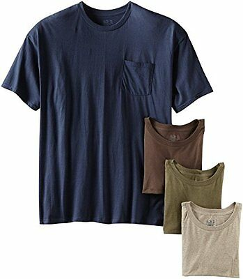 Fruit of the Loom Mens Crew Neck T Shirt Pack of 4 Colors Vary Medium