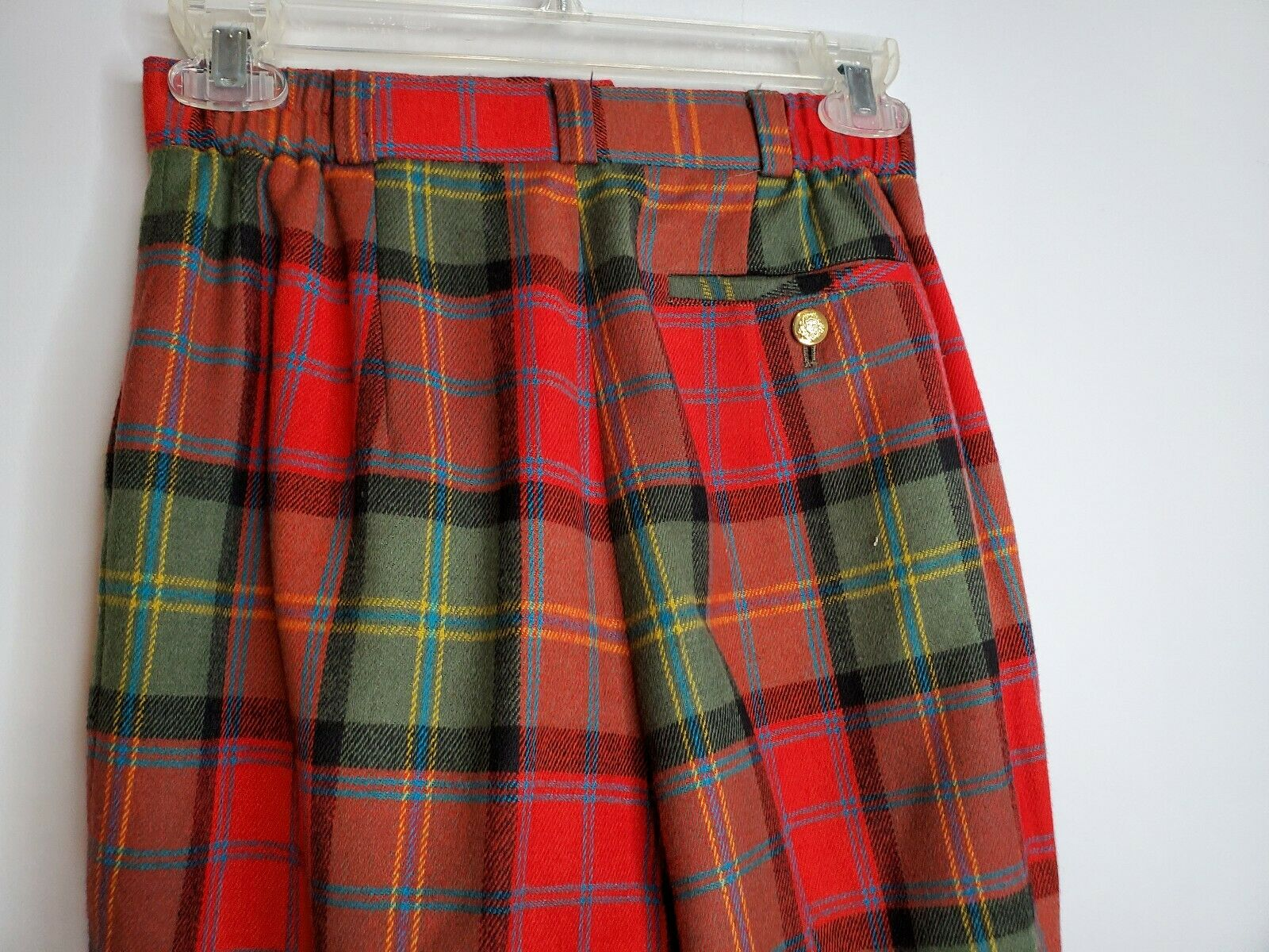 Vintage Joe Phillips Red And Green  Plaid Wool Pa… - image 4