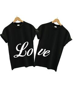 b83009aa6f Image is loading Love-T-Shirt-Couples-2-PACK-Matching-Valentines-