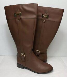 47d6cf8bf95 Details about Karen Scott Women's Deliee Wide-Calf Riding Boots Size 9.5M  WC Cognac