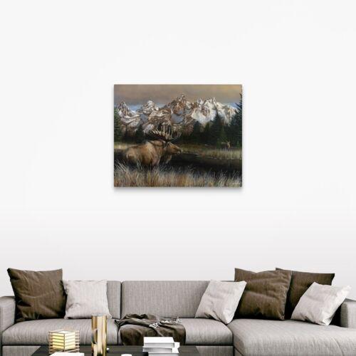 Teton Majesty Canvas Wall Art Print Field Home Decor