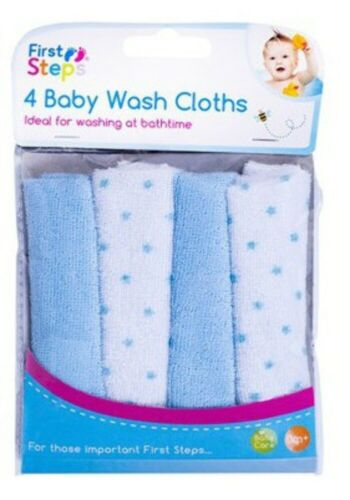 Baby Wash Cloths Pack of 4