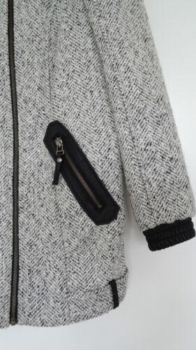 8 Cocoon Uk s Herringbone M Grå Mix Coat 6 Størrelse Skulderpatch RvqB6BwnX