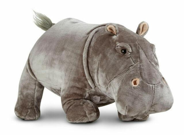 8837 for sale online Melissa /& Doug Hippopotamus Lifelike Stuffed Animal