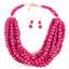 Women-Bohemian-Choker-Chunk-Crystal-Statement-Necklace-Wedding-Jewelry-Set thumbnail 131