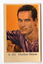 1950s Swedish Film Star Card A Set #212 American Ben-Hur Actor Charlton Heston