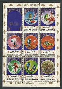 UMM AL QIWAIN Michel Catalog # 922-929 COMPLETE SET MNH Full Sheet 8 + lab SPACE