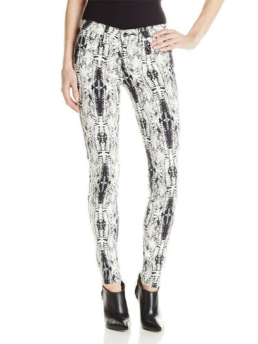 12 White Feather Print Jean 7 Genetisk 9 Shya Slim 11 Stretch Black PqOwgwB