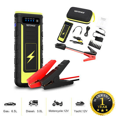 18000mAh 800A Portable Car Jump Starter 12V Booster Battery Charger Power Bank