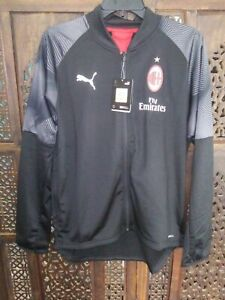 Nwt Mens Small Black Puma Drycell Stadium Jacket Fly Emirates Ac Milan Soccer Ebay
