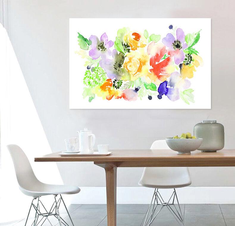 3D Farbe Blumen, Malerei 623 Fototapeten Wandbild BildTapete Familie AJSTORE DE