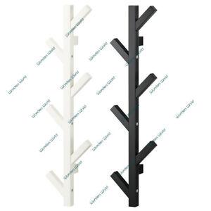 comprar oficial mejores ofertas en seleccione para el despacho Detalles de Pared Colgador Ikea Tjusig Almacenaje Organizador Blanco o  Negro Percha 78cm