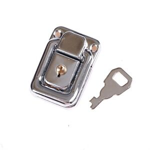 J402 Cabinet Box Square Lock With Key Spring Latch Catch Toggle Lock Hasp TEUS