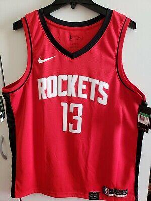 Álbum de graduación Influyente Cayo  Nike NBA James Harden #13 Men's Red Jersey Houston Rockets Size XL 52 BRAND  for sale online   eBay