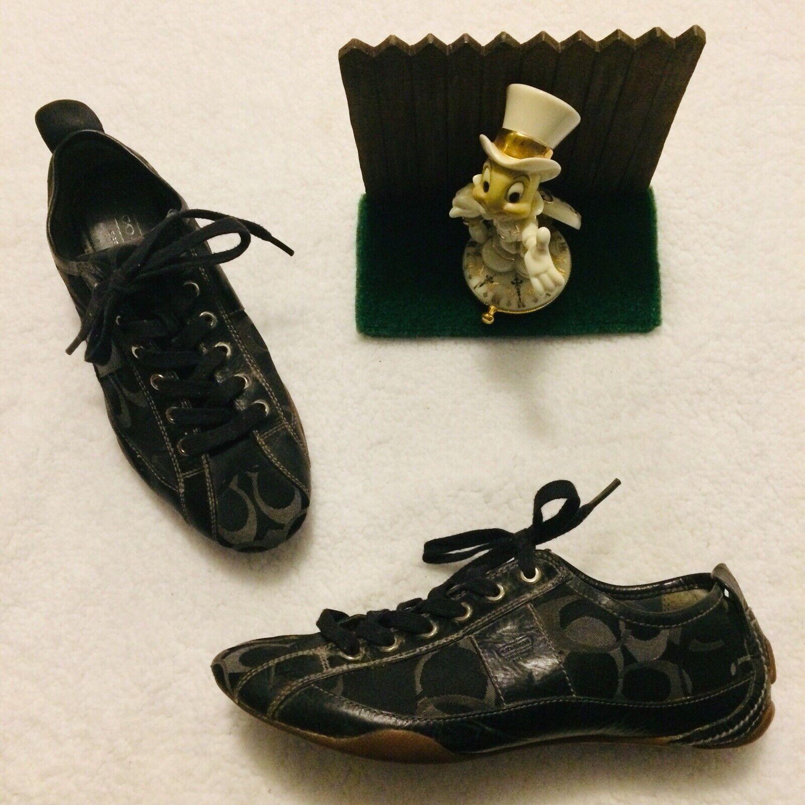 gran selección y entrega rápida Logotipo con firma Negro Entrenador Para Mujer Zapatos Zapatillas de de de monograma Janae A1178 8 M Buena  edición limitada