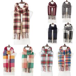 Women-Lady-Winter-Warm-Scarf-Cashmere-Long-Wrap-Shawl-Plaid-Knit-Scarf-Pashmina