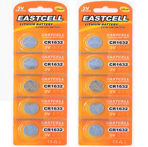 10-x-CR1632-3V-Lithium-Batterie-auf-2-Blistercard-a-5-Stueck-EASTCELL