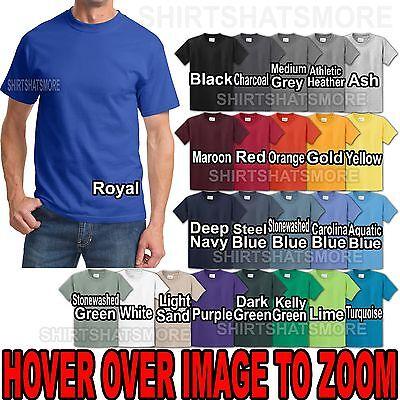 MEN/'S HEAVYWEIGHT 2XL-6XL T-SHIRT PRESHRUNK 100/% COTTON SHORT SLEEVE CREW
