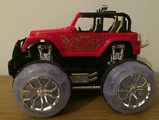 4X4 OFF ROAD MONSTER TRUCK RECHARGEABLE Radio Remote Control Car STUNT MUSIC RED