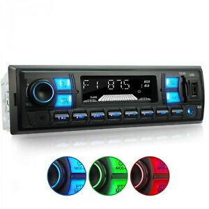 RDS-AUTORADIO-CON-BLUETOOTH-USB-LED-COLOUR-SD-AUX-IN-MP3-WMA-CD-ID3-SDHC-1DIN