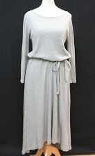 LOFT Ladies Grey Cotton Boat Neck Long Sleeve Body Con Style Dress Size M/1