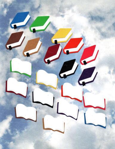 Quickutz Closed or Open School Books Die Cut Embellishments Sizzix,