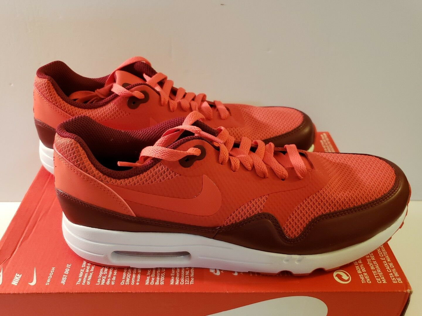 Nike Air Max 1 Ultra 2.0 Essential Size 10 Red Men's 875679 601