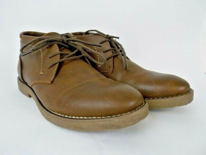 Dexter Comfort Brown Faux Leather Men's Ankle Boots Memory
