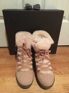 e7b6b2ba1a2 J Crew NWT Women s Nordic Wedge Boots Subtle Pink 7 8 9 10  k2901 ...