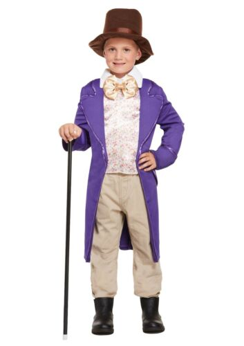 BOYS GIRLS WILLY CHOCOLATE KIDS FANCY DRESS OUTFIT COSTUME 4-12 YEARS WORKER