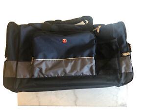 Sport Duffel Bag Blue Gray Travel Gym