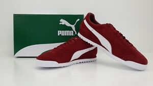 newest 0aa3b 1f3cf Details about PUMA ROMA SUEDE SNEAKERS RED DAHLIA/PUMA WHITE 365437 03 -  BRAND NEW IN BOX!!!
