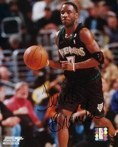 GFA Minnesota Timberwolves Legend TERRELL BRANDON Signed 8x10 Photo COA