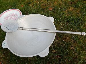 Großer Profi Rühr- Schaumlöffel 84cm Massive Qualität Ø18CM EDELSTAHL Шумовка