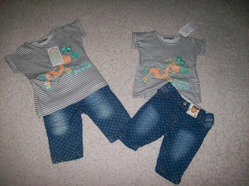 74  86  NEU Ergee Set Kombination T-Shirt mit kurzer Jeansshorts Gr