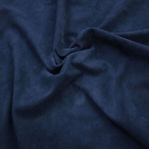 Barkers Hide & Cuir H291 Bleu Marine. Super Soft Goat Peau Daim Avec Velours Nap-afficher Le Titre D'origine Design Professionnel