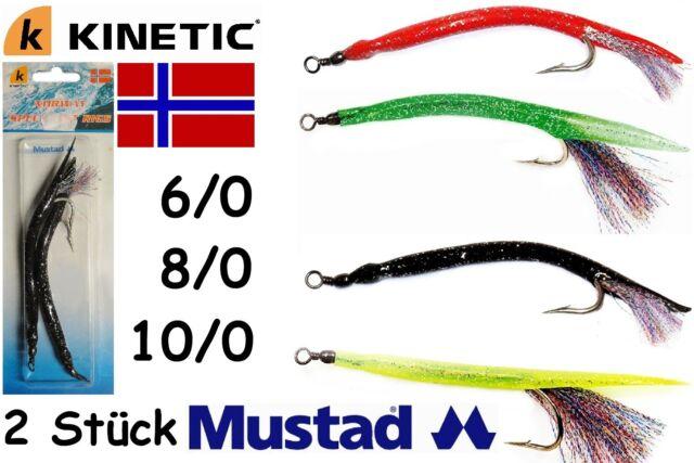 Kinetic Deluxe Makk Inh. 2 Stk. Mustad-Haken 6/0 8/0 10/0 Gummimakk Norwegen