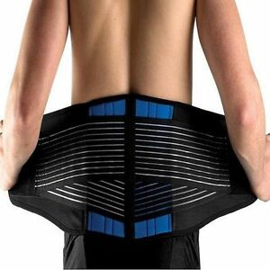 80592441606 Image is loading Adjustable-Neoprene-Double-Pull-Lumbar-Support-Lower-Back-