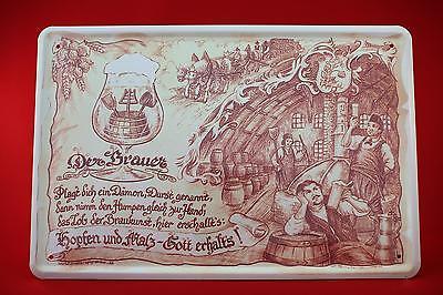 Blechschild Die Brauer 20x30 cm Berufschild  Blechschilder Brauhaus Bier 30