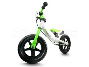 Kinderlaufrad-Metallrahmen-V-BRAKE-EVA-Reifen-29-cm-Ricobike-RC-302-weiss-gruen