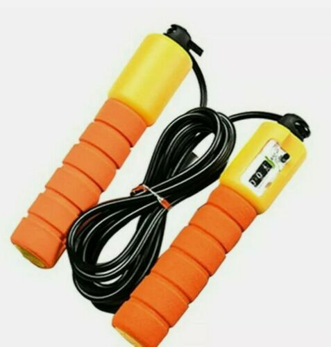 Skipping Rope Fitness Adjustable Adult Kids Counting Jump With Counter Indoor UK