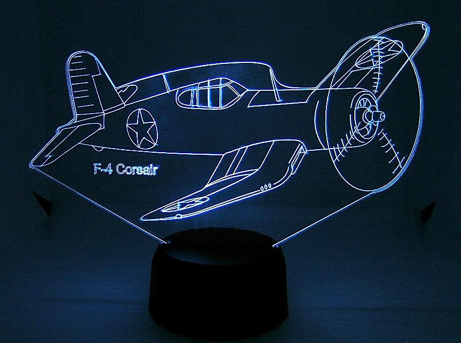 F4 Corsair RC Airplane Warbirds 3D Acrylic  Light with Extras  acquista online oggi