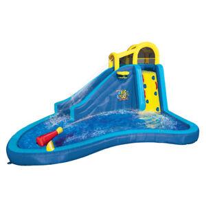 Banzai-Inflatable-Big-Blast-Cannon-Splash-Slide-Lagoon-Pool-Outdoor-Water-Park