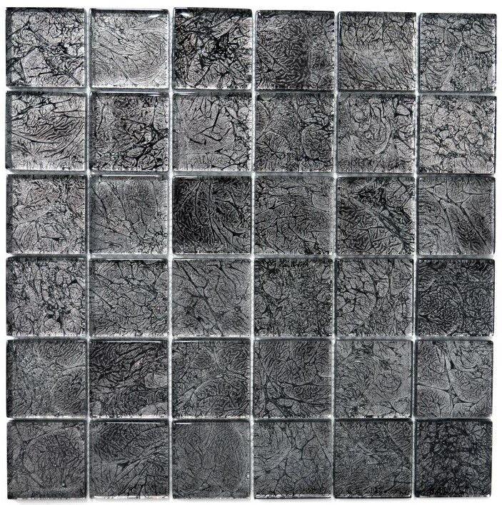 Mosaïque translucide crystal structure schwarz cuisine mur 126-8BL27_f   10 plaques