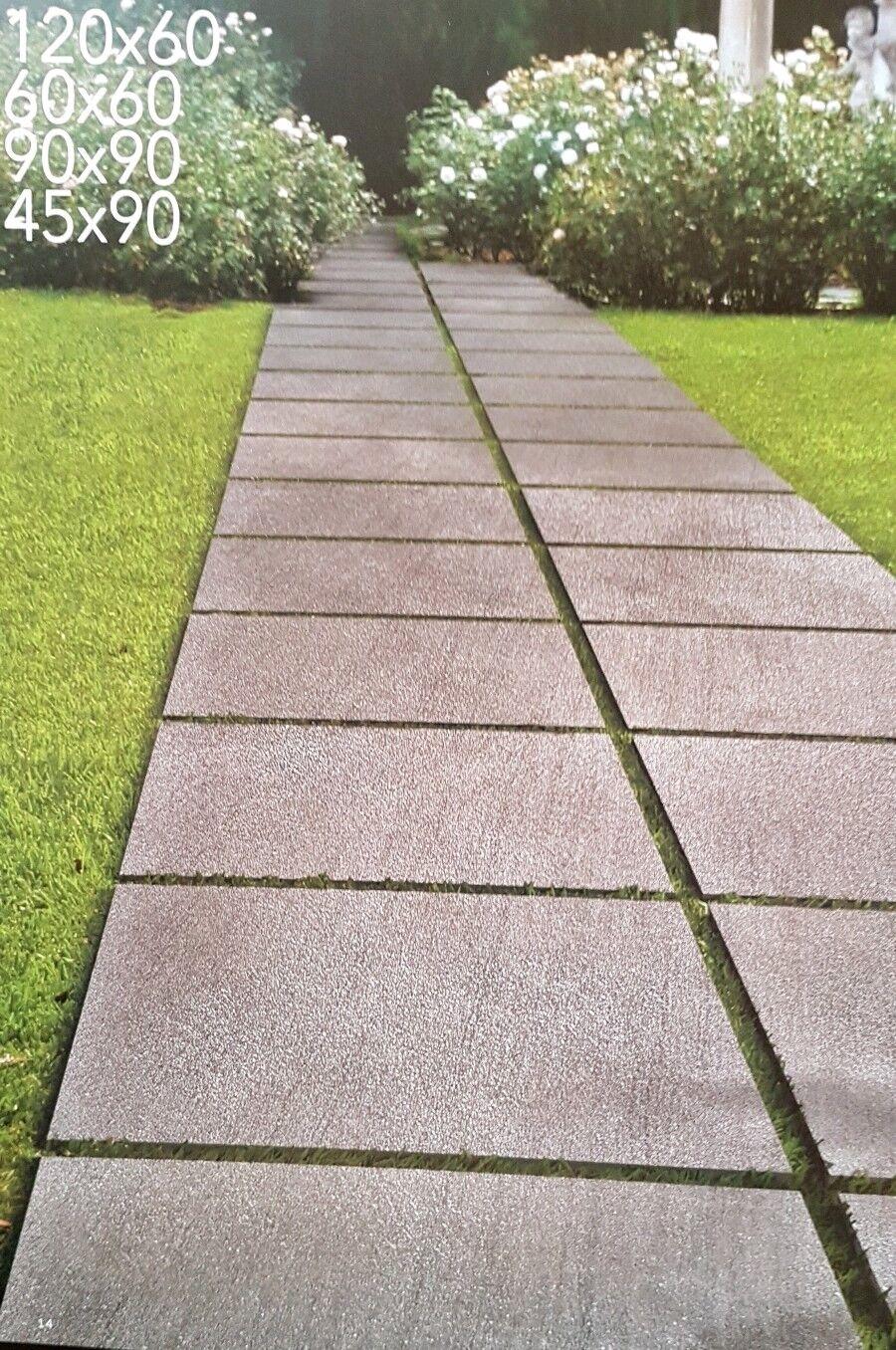 Terrassenplatten 90x90x2cm rektifiziert Neuheiten Großformate 2 Farben 4 Formate